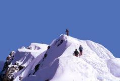 Klättraretoppmöte av Mt huv Royaltyfria Foton
