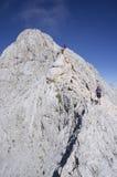 Klättring Mt Triglav Royaltyfria Foton