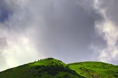 Klättring på berget Royaltyfri Fotografi