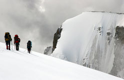 klättringbergsbestigare Arkivfoton