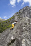 klättringen knyter rockrep två Arkivbild