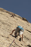klättringen knyter rockrep två Royaltyfria Bilder