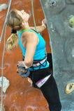 klättringen knyter rockrep två Royaltyfri Fotografi