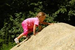 klättringflicka Royaltyfria Bilder