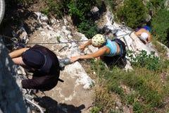 klättringfolk Arkivbilder