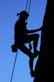 klättringkvinna Royaltyfria Foton