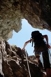 klättringman Arkivbilder