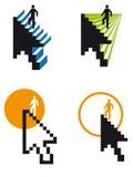 klättringmarkör stock illustrationer