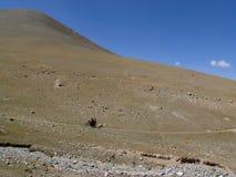 klättringmotorcykelberg Royaltyfri Foto