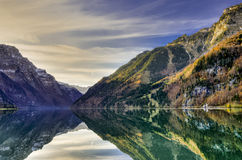 Mountain reflection in lake Royalty Free Stock Photo