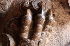 Klöst fot för sten drake royaltyfri foto
