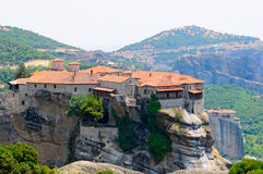 Klöster in Meteora stockfotos