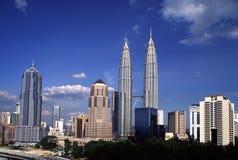 KL горизонта, Куалаа-Лумпур, Малайзии Стоковое Изображение