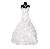 klänning isolerat bröllop Arkivfoton