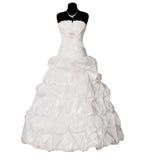klänning isolerat bröllop Arkivbilder