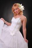 klänningflickabröllop Royaltyfria Foton