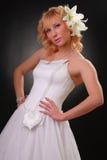 klänningflickabröllop Royaltyfri Bild