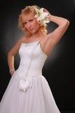 klänningflickabröllop Royaltyfri Foto