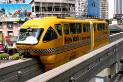 The KL Monorail. Is an urban monorail system (previously known as Peoplemover Rapid Transit - PRT) in Kuala Lumpur, Malaysia. It opened on 31 August 2003, and Royalty Free Stock Photo