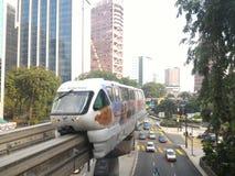 KL monorail Royalty-vrije Stock Afbeeldingen