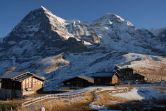 Kl. Scheidegg. With Eiger and Mönch near Grindelwald Royalty Free Stock Photography