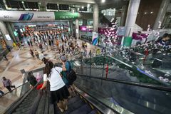 KL sentral railway station in Kuala Lumpur stock images