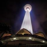 Kl-torn på natten Royaltyfri Foto