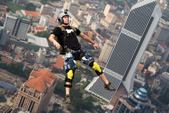 KL Tower BASE Jump 2014 Royalty Free Stock Photos