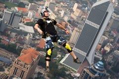 KL Tower BASE Jump 2014 Royalty Free Stock Photos