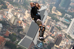 KL Tower BASE Jump 2014 Royalty Free Stock Photography