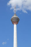 KL tower with blue skies and cloud Stock Photos