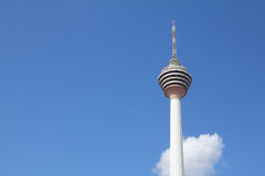 KL tower with blue skies and cloud - Series 4 Stock Photography