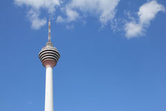 KL tower with blue skies and cloud - Series 2 Royalty Free Stock Photo