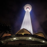 KL Tower at Night. The KL Tower at Night towering up into the sky Royalty Free Stock Photo