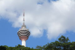 KL tower with tree canopy Royalty Free Stock Photos