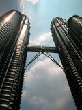 Twin tower in KL. KL twin tower in the daylight, the landmark of Maylaysia Stock Image
