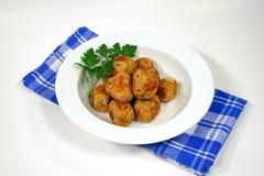 Klaar om de Ballen van het Vlees van de Kip te dienen Stock Foto's