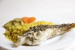 Klaar om monkfish lophius te eten stock afbeeldingen