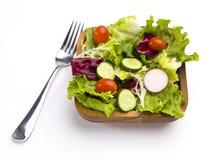 Klaar om salade te eten stock fotografie