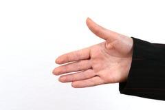 Klaar om Uw Hand te schudden Stock Foto's