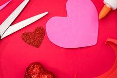 Klaar om Valentijnskaarten te maken Royalty-vrije Stock Fotografie