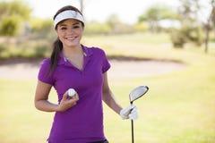 Klaar om wat golf te spelen! Stock Afbeeldingen