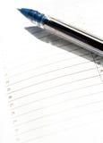 Klaar te plannen en te schrijven Stock Foto
