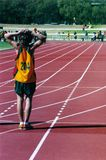 Klaar te rennen Royalty-vrije Stock Foto's