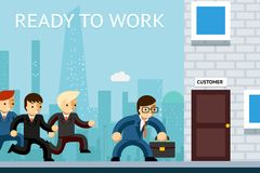 Klaar te werken Bedrijfsleiders die wachten op Royalty-vrije Stock Foto's