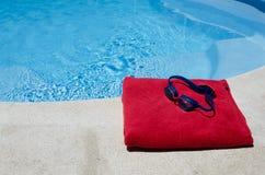 Klaar te zwemmen Stock Foto