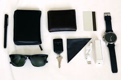 klaar uit te gaan reeks - acessories over een witte achtergrond Royalty-vrije Stock Fotografie