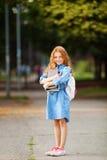 Klaar voor de eerste dag van school Royalty-vrije Stock Foto