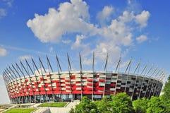 Klaar voor EURO 2012, Nationaal Stadion, Warshau. Stock Afbeelding