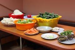 Klaar voor groenten in het zuur Royalty-vrije Stock Afbeelding